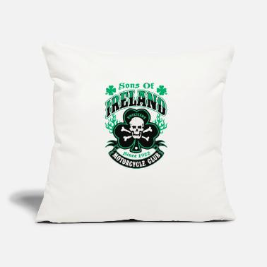"Sons Of Ireland Hooligans Motorcycle Club Irish Ti - Throw Pillow Cover 18"" x 18"""