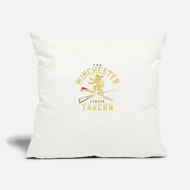 "Tavern The Winchester Tavern - Throw Pillow Cover 18"" x 18"""