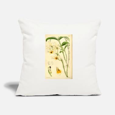 "Garden Dendrobium aphrodite (as Dendrobium nodatum) - Throw Pillow Cover 18"" x 18"""
