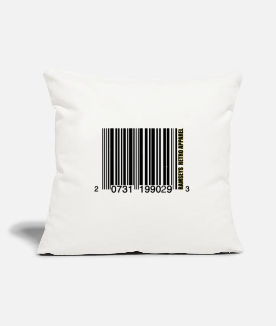 "Game Pillow Cases - Ramseys Bar-Coding - Throw Pillow Cover 18"" x 18"" natural white"