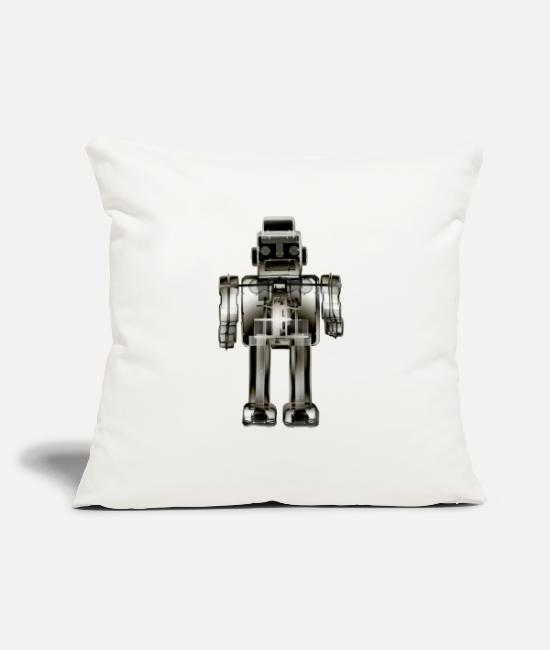 "Korea Pop Music Pillow Cases - 3N2O toy robot x-ray bw - Throw Pillow Cover 18"" x 18"" natural white"