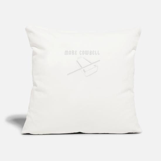 "Game Pillow Cases - More Cowbell - Throw Pillow Cover 18"" x 18"" natural white"