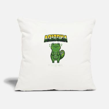 "Heat A Dry Heat - Throw Pillow Cover 18"" x 18"""