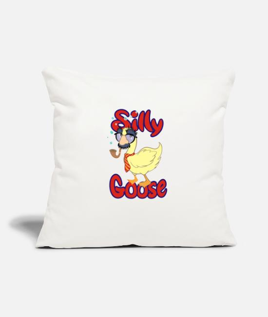"Movie Pillow Cases - Silly Goose - Throw Pillow Cover 18"" x 18"" natural white"