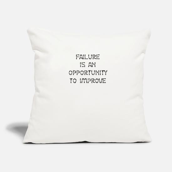 "Motivation Pillow Cases - motivation - Throw Pillow Cover 18"" x 18"" natural white"