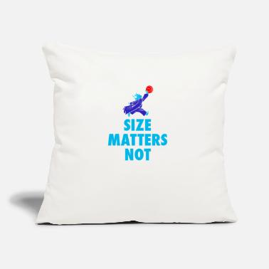 "Size Size Matters Not - Throw Pillow Cover 18"" x 18"""