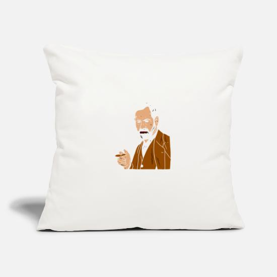 "Gaming Pillow Cases - Your Mom Freud - Throw Pillow Cover 18"" x 18"" natural white"