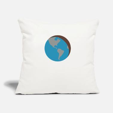 "Earth - Throw Pillow Cover 18"" x 18"""
