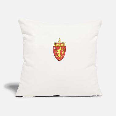 "Norway Coat Of Arms National Coat Of Arms Of Norway - Throw Pillow Cover 18"" x 18"""