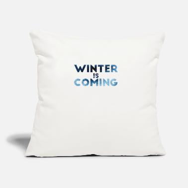 "Weather Winter - Throw Pillow Cover 18"" x 18"""
