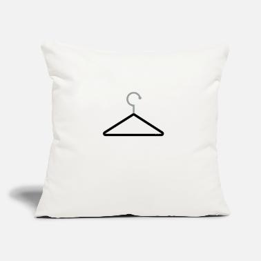"Clothes hanger for clothes - Throw Pillow Cover 18"" x 18"""