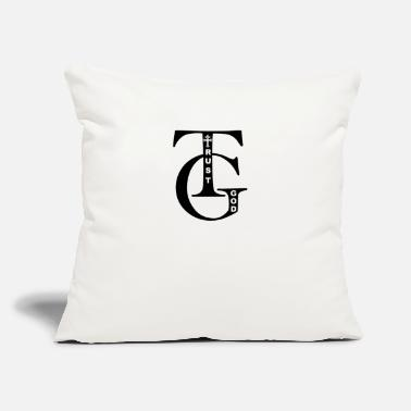 "Do You Know The Name Of God Trust God Psalm 9:10 - Throw Pillow Cover 18"" x 18"""