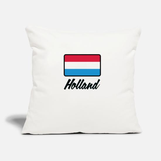 "Frank Pillow Cases - National Flag Of Holland - Throw Pillow Cover 18"" x 18"" natural white"