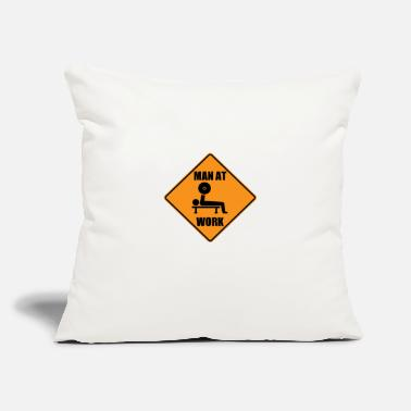 "Man At Work - Throw Pillow Cover 18"" x 18"""