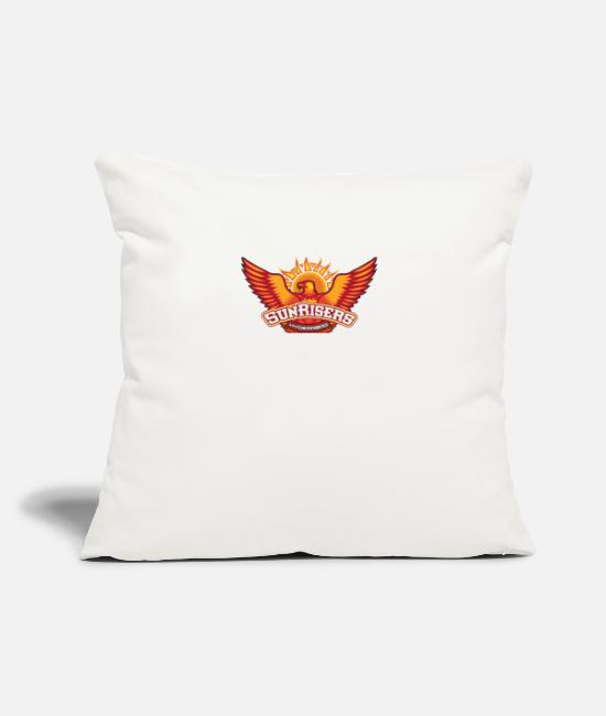 "Ipl Pillow Cases - SUNRISERS HYDRABAD T- SHIRT IPL - Throw Pillow Cover 18"" x 18"" natural white"