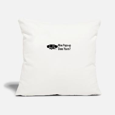 "Pop Up Mine pops up - Throw Pillow Cover 18"" x 18"""