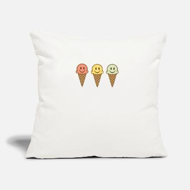 "Ice ice cream - Throw Pillow Cover 18"" x 18"""