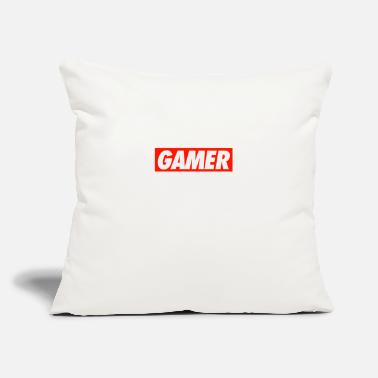 "GAMER - Throw Pillow Cover 18"" x 18"""