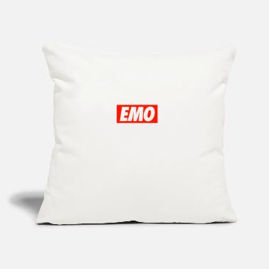 "Emo EMO - Throw Pillow Cover 18"" x 18"""