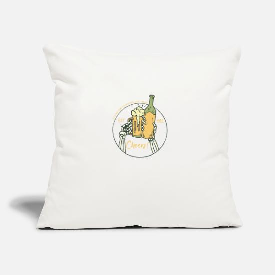 "Birthday Pillow Cases - Cheers - Throw Pillow Cover 18"" x 18"" natural white"