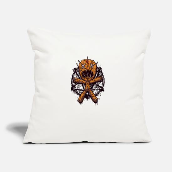 "Game Pillow Cases - master of puppets - Throw Pillow Cover 18"" x 18"" natural white"