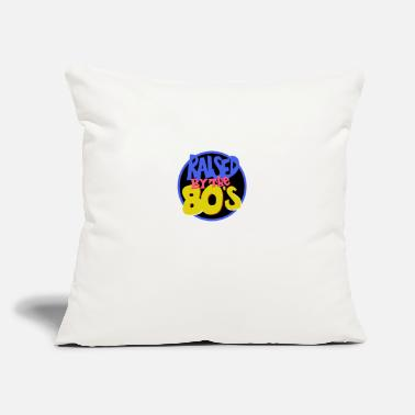 "Raised Raised in the 80s - Throw Pillow Cover 18"" x 18"""