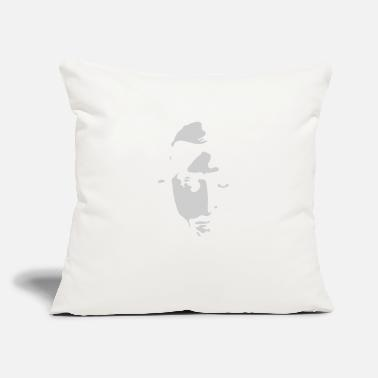 "Stencil Airbrushed Stencil - Throw Pillow Cover 18"" x 18"""