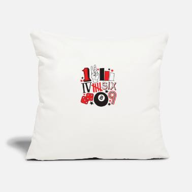 "Numbers Numbers - Throw Pillow Cover 18"" x 18"""