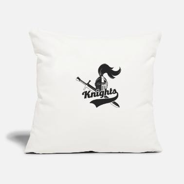 "Knights Knights - Throw Pillow Cover 18"" x 18"""