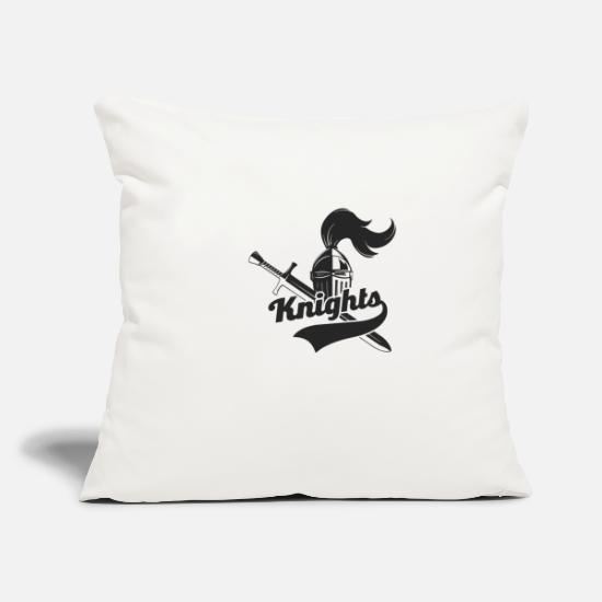 "Knight Pillow Cases - Knights - Throw Pillow Cover 18"" x 18"" natural white"