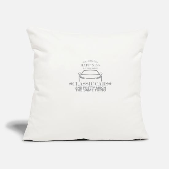 "Old Pillow Cases - Classic Cars - Throw Pillow Cover 18"" x 18"" natural white"
