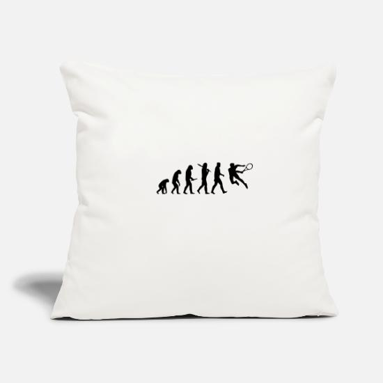 "Birthday Pillow Cases - tennis hit - Throw Pillow Cover 18"" x 18"" natural white"