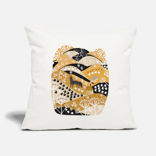 "Animal Pillow Cases - animal illustrations - Throw Pillow Cover 18"" x 18"" natural white"