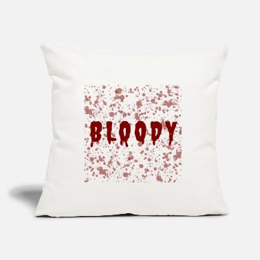 "Bloody Bloody - Throw Pillow Cover 18"" x 18"""