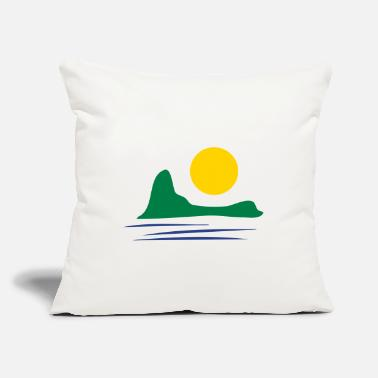 "Holiday Island Holidays Island - Throw Pillow Cover 18"" x 18"""