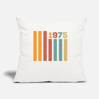 "Best 1975 Vintage outfit gift - Throw Pillow Cover 18"" x 18"""