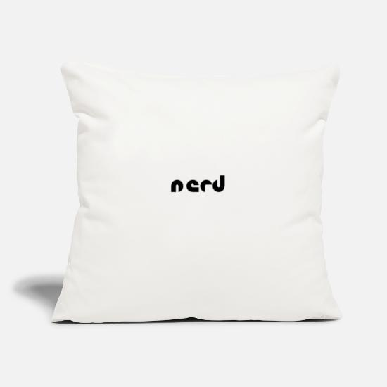 "Game Pillow Cases - Nerd - Throw Pillow Cover 18"" x 18"" natural white"