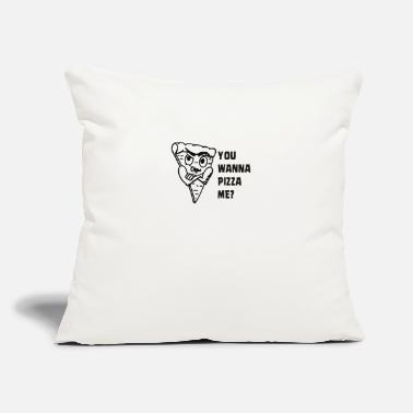 "Pizza Funny pizza - Throw Pillow Cover 18"" x 18"""