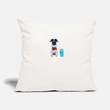 "Holidaymaker Dog Holidays - Throw Pillow Cover 18"" x 18"""