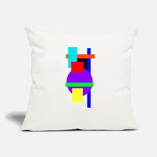 "Abstract Pillow Cases - abstract - Throw Pillow Cover 18"" x 18"" natural white"