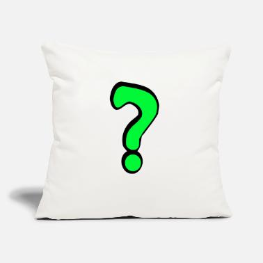 "Questionable Question - Throw Pillow Cover 18"" x 18"""