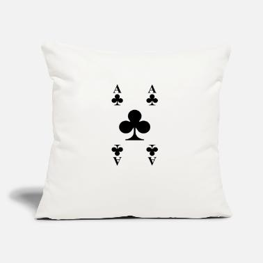 "Cards Cards - Throw Pillow Cover 18"" x 18"""