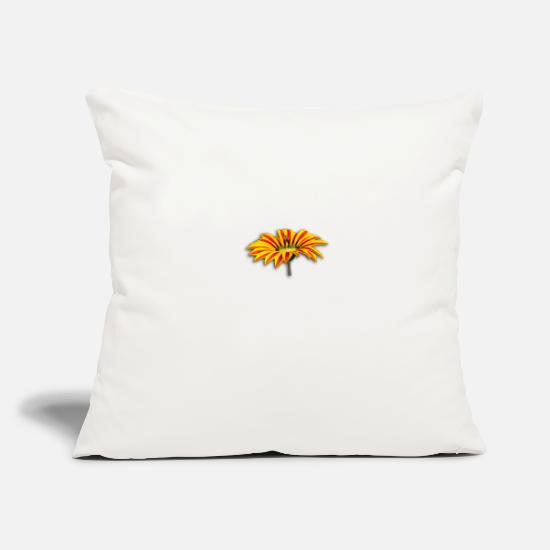 "Flowers Pillow Cases - Flower - Throw Pillow Cover 18"" x 18"" natural white"