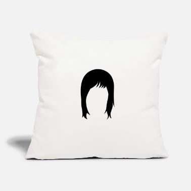 "Hairstyle long hair hairstyle hairstyles - Throw Pillow Cover 18"" x 18"""