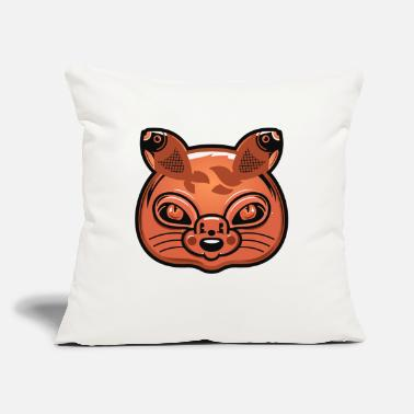 "Cat Head Has Mouse Nose - Fish Ears - Throw Pillow Cover 18"" x 18"""