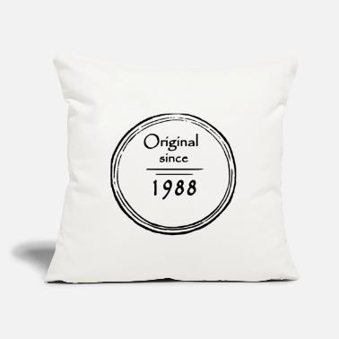 "Vintage 1988 - Throw Pillow Cover 18"" x 18"""