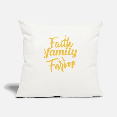 "Faith Family Farm Christian Living - Throw Pillow Cover 18"" x 18"""
