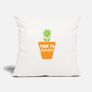 "Hobby Gardeners Garden Time to Garden - Throw Pillow Cover 18"" x 18"""