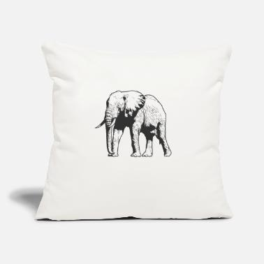"Mouse Elephant pachyderm from Africa - Throw Pillow Cover 18"" x 18"""