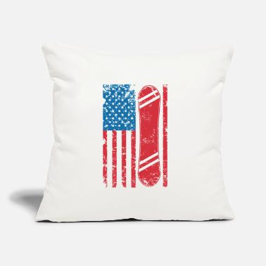 "Snowboard Snowboarding in the USA - Throw Pillow Cover 18"" x 18"""